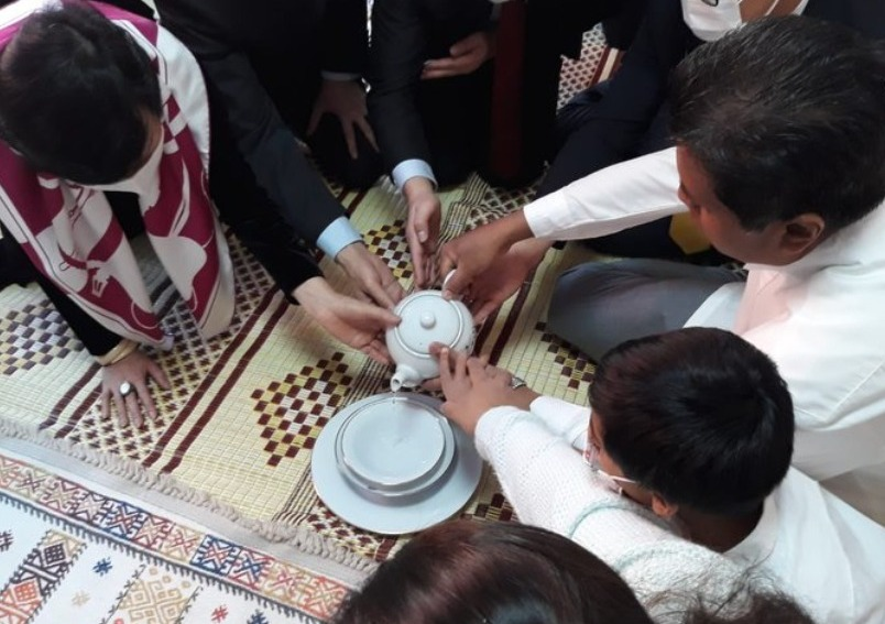 Alms giving and pirith chanting ceremony at the Chancery in Ankara