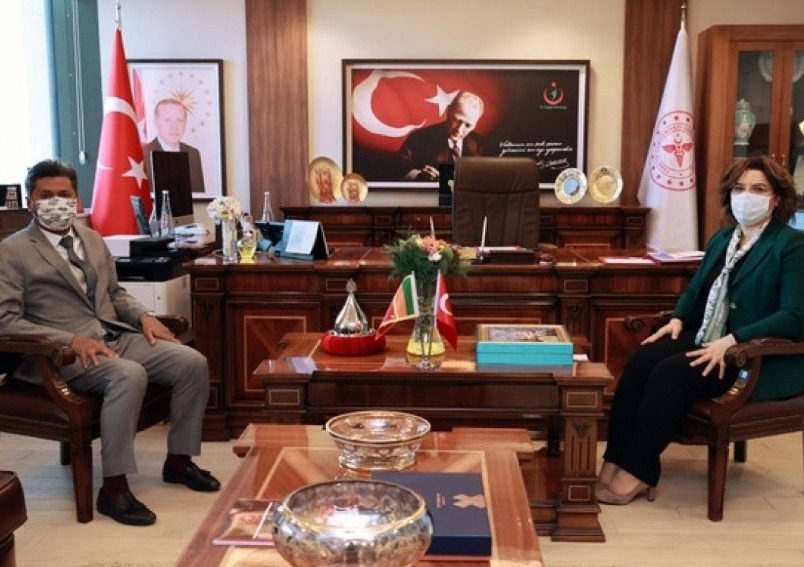Ambassador calls on Prof.Dr. Emine Alp Meşe, Deputy Health Minister of Republic of Turkey